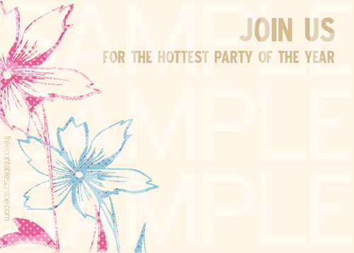 Emily Letterpress Party Invitations | Free Printables Online