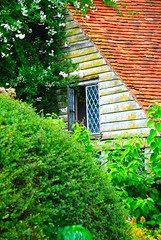 Open House in the Diagonal at Great Dixter! (antonychammond) Tags: uk roof england window garden britain tiles shrubs eastsussex christopherlloyd greatdixter supershot estremit nikonflickraward manorhousegarden travelsofhomerodyssey