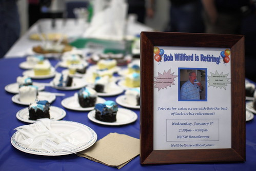 Bob Willford's retirement party