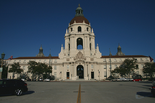 Pasadena Civic Center, one of the projects currently held up by the state's Office of Historic Preservation