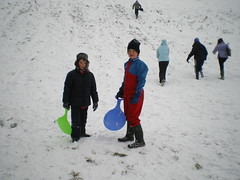 George and Joe (Caroline Harrison) Tags: snow
