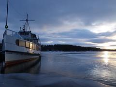 Icebound (climbnh2003) Tags: winter lake ice water boat ship vessel mountwashington icebound