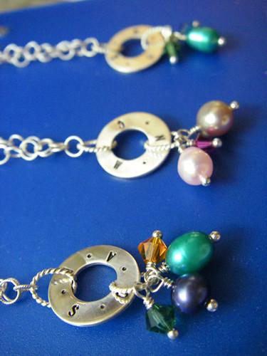 bracelets on blue