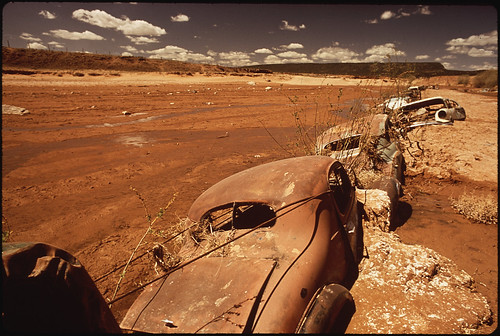 Old Cars Serve as Water-Break on Navajo Reservation