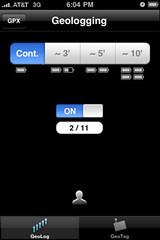 GeoLogTag iPhone App
