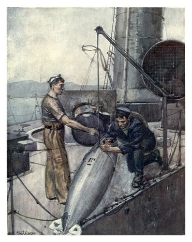 025- Un torpedo de 18 pulgadas-The Royal Navy (1907)- Norman L. Wilkinson