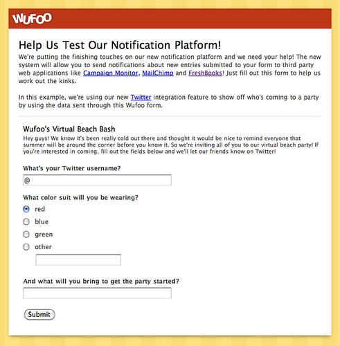 Help Us Test Our Notification Platform!
