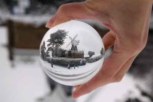 13th January - windmill snowglobe
