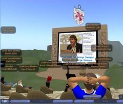 George Siemens at Universidad San Martin de Porres in Second Life