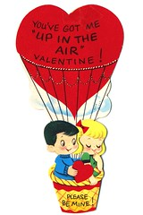 Up in the Air (ggmossgirl) Tags: usa cute love vintage day heart sweet valentine collection card valentines