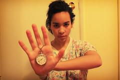 16/365 ({Anaka}Mo) Tags: world clock yellow out real day hand time year days stop 16 365 pajamas
