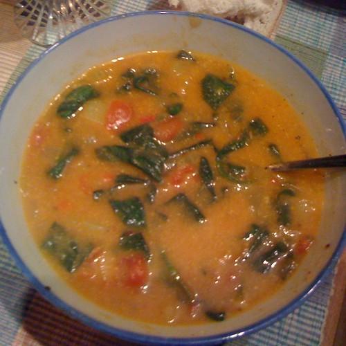 Sag Aloo Soup