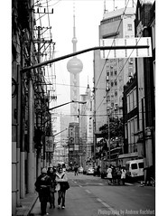 porno (matteroffact) Tags: china road street city people urban bw white black tower sign architecture modern buildings alley nikon women asia cityscape shanghai chinese andrew future pearl futuristic d3 density dense pearltower puxi vitsa matteroffact rochfort andrewrochfort