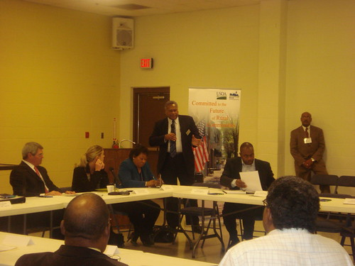 Lawrence McCullough, Rural Development State Director, making opening remarks at an Arkansas Jobs Forum.