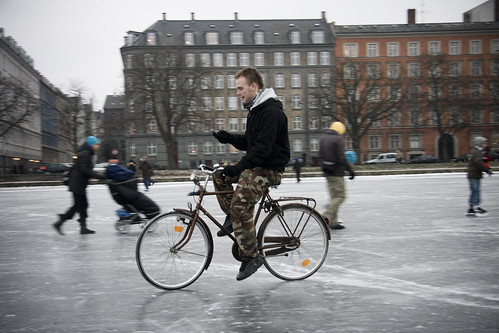 Bicycle Ice and Texting