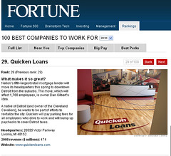 Quicken Loans Named One of the 'Best Companies to Work For' in America for Seventh Straight Year