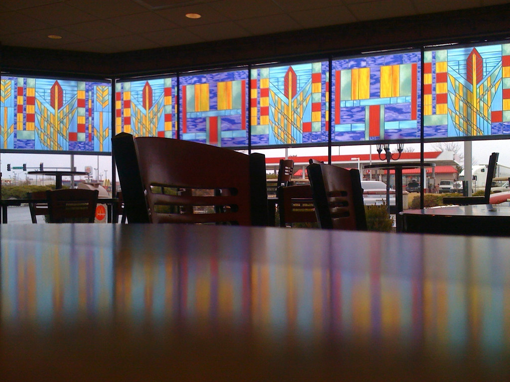 Stained Glass Windows at McDonalds