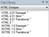 TextPad Clip Library Window