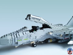 Tophatters F-14A Tomcat (11) (Mad physicist) Tags: model fighter lego aircraft military usnavy tomcat 136 ussenterprise grumman f14a tophatters