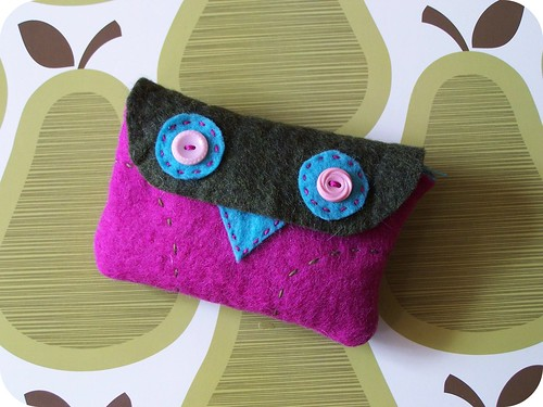 owl cosmetic bag