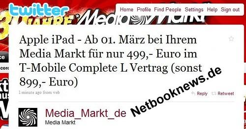 4305172227 3e728fdf94 Apple iPad ab 1. Maerz im Media Markt ab 499 Euro (899 Euro ohne Vertrag) *Update*