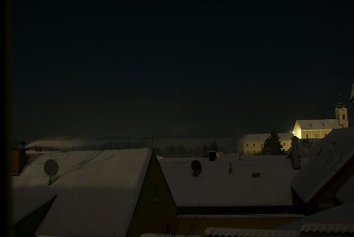 Dächer in der Nacht