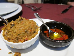 Spicy Eggplant Spread, Malagueta Peppers With Olive Oil