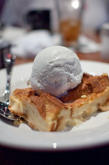 Ohana Bread Pudding (Roger Weeks) Tags: dinner bread dessert florida pudding banana icecream waltdisneyworld ohana disneyphotochallenge