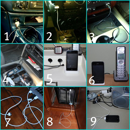 IPhone Charger Collage