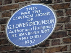 Photo of Goldsworthy Lowes Dickinson blue plaque