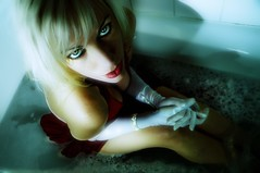 She Bathes In A Red Dress Today (TJ Scott) Tags: bath rockstar hollywood 8mm reddress tjscott