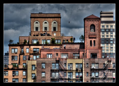 Aloft (Pro-Zak) Tags: nyc windows roof buildings manhattan guesswherenyc prozak fireescape hdr frankensteinguessed timothyvogel