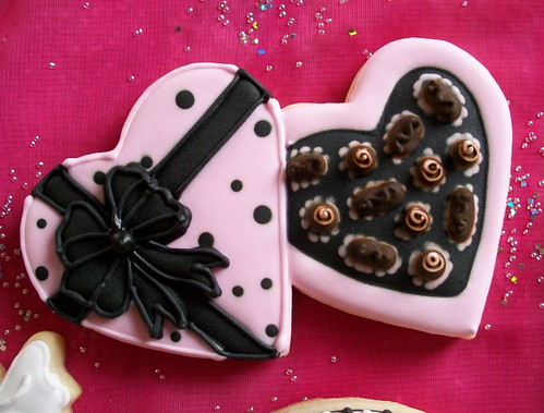 Close up of Heart Candy Box