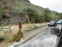 Vejen er oversvømmet