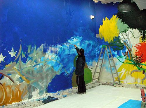 Midori Terashima painting Kyoto Art Center