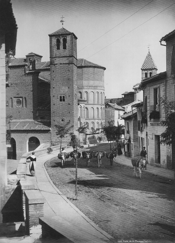 Iglesia de Santiago del Arrabal en 1885 por Levy. Colección Luis Alba