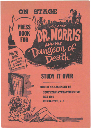 THE MAD DOCTOR MORRIS AND HIS DUNGEON OF DEATH Press Book