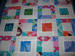 Bright Hopes Mini Quilt Top