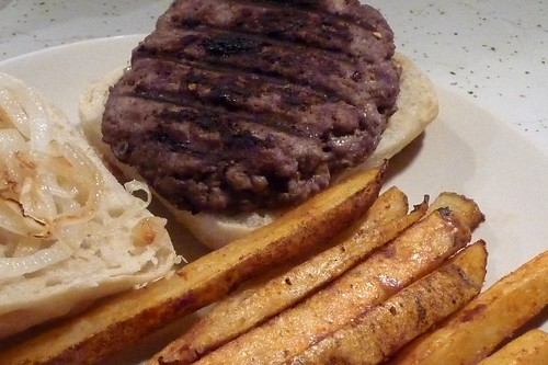 Garlic Burgers & Homestyle Fries
