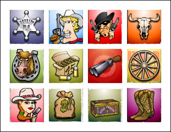 free Western Wildness slot game symbols