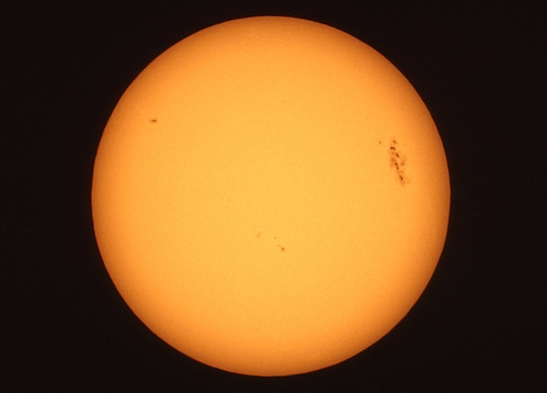 Sun and Sunspots Seen Through a Solar Filter