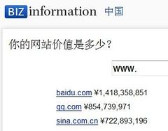 用BIZinformation在线查询你的网站值多少钱 | 爱软客