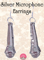 Silver Microphone Earrings