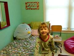 Eden in her new room