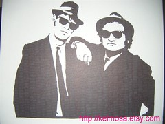bluesbros 004 (Large) (Kelmosa) Tags: blackandwhite art sunglasses silhouette movie suits drawing jazz blues icon marker elwood celebrities sharpie belushi johnbelushi danaykroyd thebluesbrothers