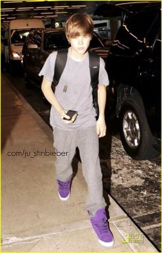 Justin Bieber Purple Sneakers by v a l e 'wjks ( # ) + ip..