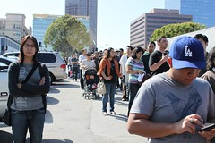 Unhappy Camper in Line at LA Street Food Fest