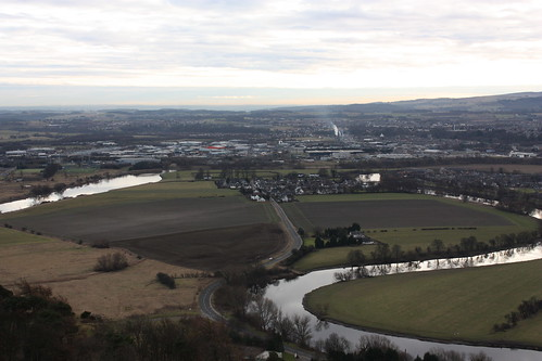 View from the top of the Wallace Monument.