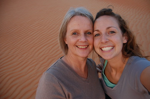 Mom and the desert