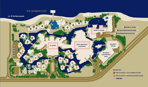 map of Dubai Madinat Jumeirah 杜拜運河飯店2